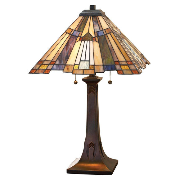 Quoizel Lamps Inglenook Glass Table Lamp