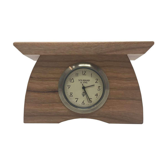 Schlabaugh Decor Mini Buffalo Clock - Cherry