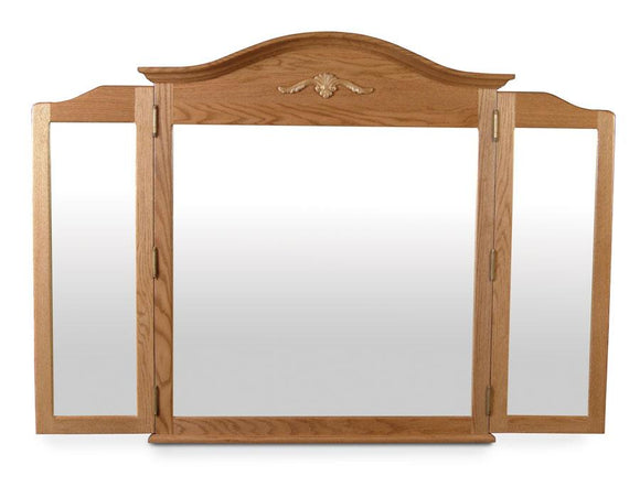 Simply Amish Bedroom Arch Top Tri-View Mirror 50 1/4 inch w