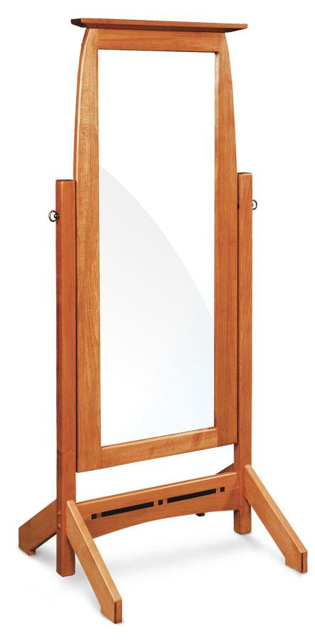 Simply Amish Bedroom Aspen Cheval Mirror with Inlay