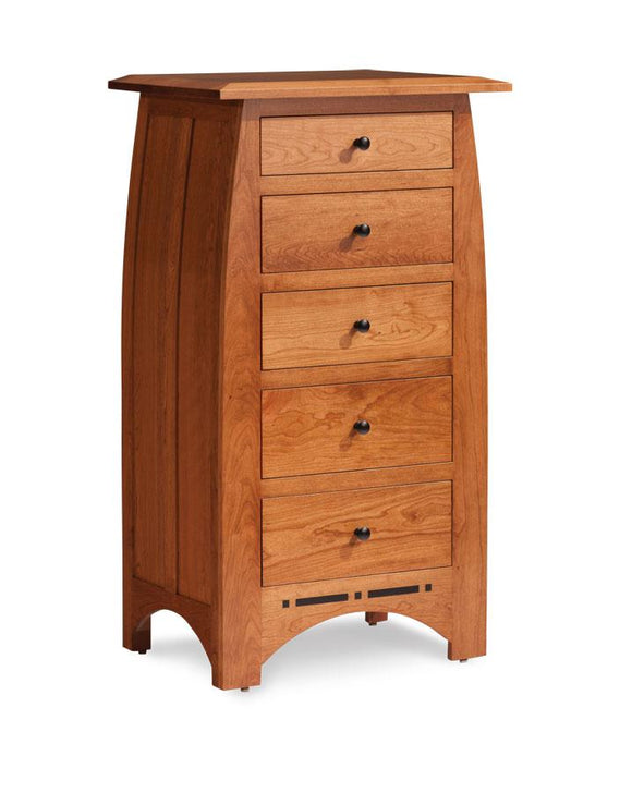 Simply Amish Bedroom Aspen Lingerie Chest with Inlay