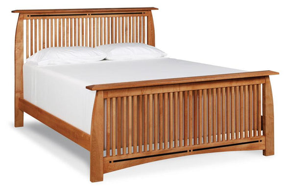 Simply Amish Bedroom Aspen Slat Bed with Inlay California King Complete Bed (no mattress or box spring)