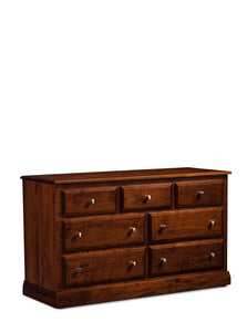 Simply Amish Bedroom Colburn 7-Drawer Dresser 58 inches w