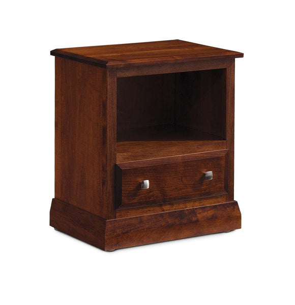Simply Amish Bedroom Colburn Nightstand with Opening