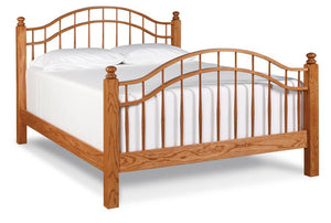 Simply Amish Bedroom Double Bow Bed California King Complete Bed (no mattress or box spring)