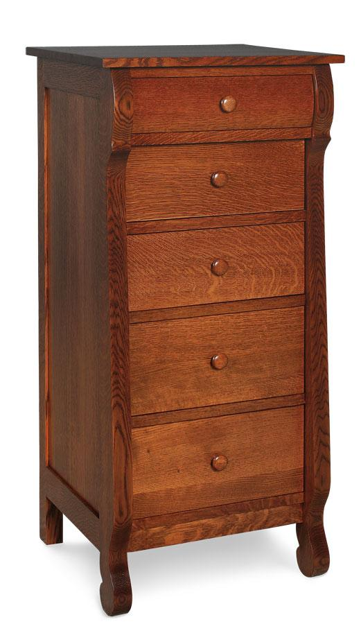Simply Amish Bedroom Empire Lingerie Chest