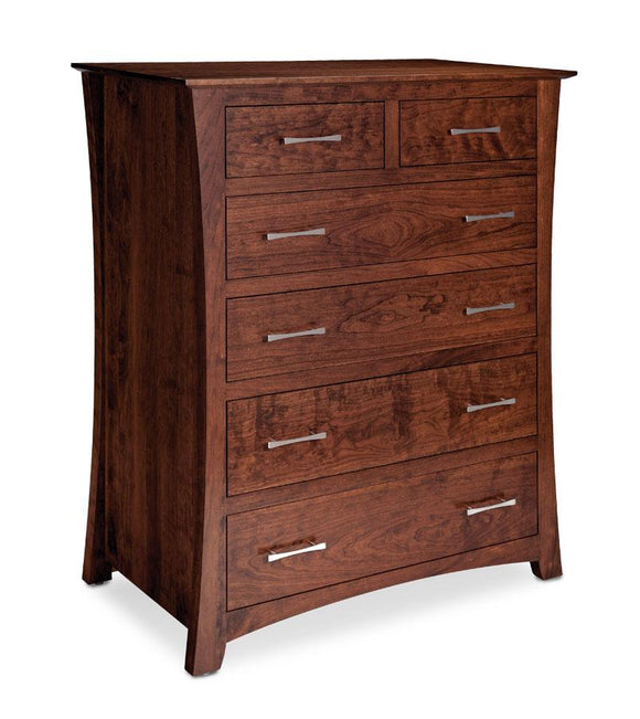Simply Amish Bedroom Express Ship Loft 6-Drawer Chest Cherry
