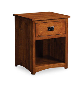 Simply Amish Bedroom Express Ship San Miguel Nightstand with Opening