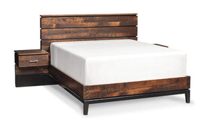 Simply Amish Bedroom Frisco Integrated Panel Bed with no upper panel California King