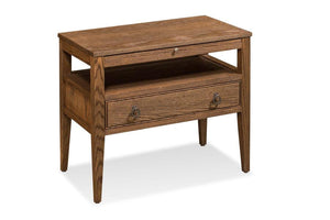 Simply Amish Bedroom Hamptons Nightstand with Open Cubby, Extra Wide