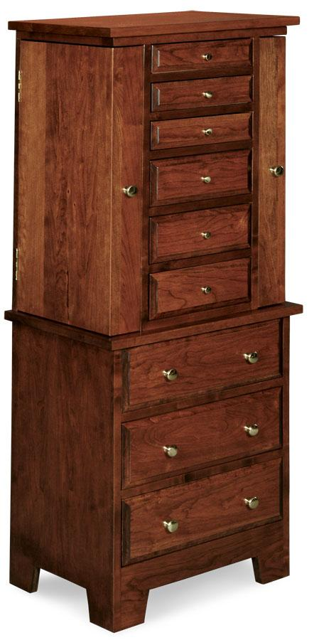Simply Amish Bedroom Homestead Jewelry Armoire