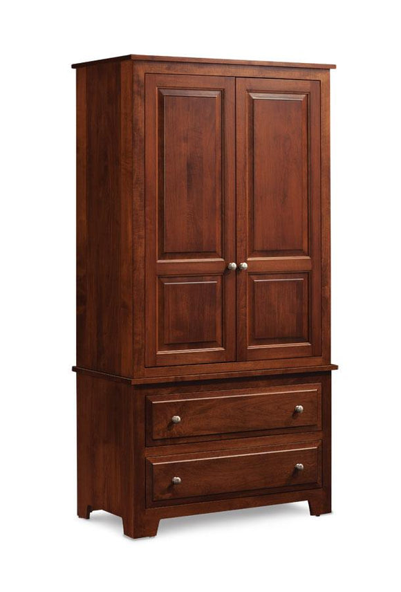 Simply Amish Bedroom Homestead Tall Armoire on Chest