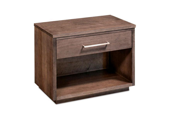 Simply Amish Bedroom Ironwood Nightstand with Opening, Extra Wide