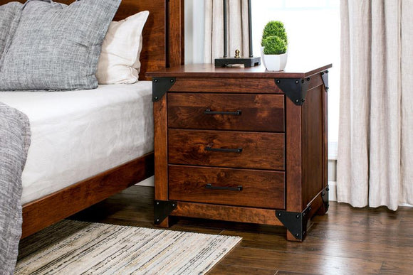 Kodiak Nightstand with Drawers, Extra Wide by Simply Amish