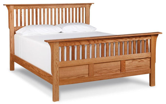 Simply Amish Bedroom Mission Paneled Slat Bed California King Complete Bed (no mattress or box spring)