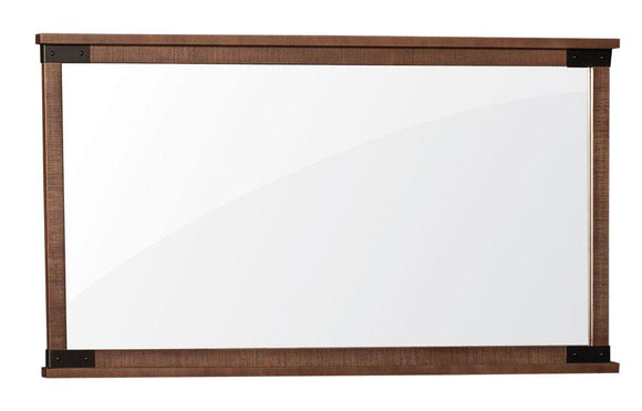 Simply Amish Bedroom Montauk 6-Drawer Dresser Mirror(Rough Sawn Std) 37 inch w