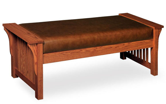 Simply Amish Bedroom Prairie Mission Lounge Bench 41 inch