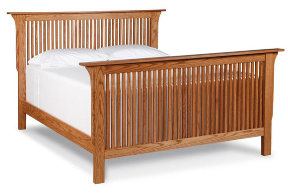 Simply Amish Bedroom Prairie Mission Slat Bed California King Complete Bed (no mattress or box spring)
