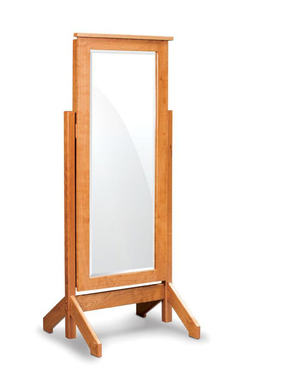 Simply Amish Bedroom Shaker Jewelry Cheval Mirror