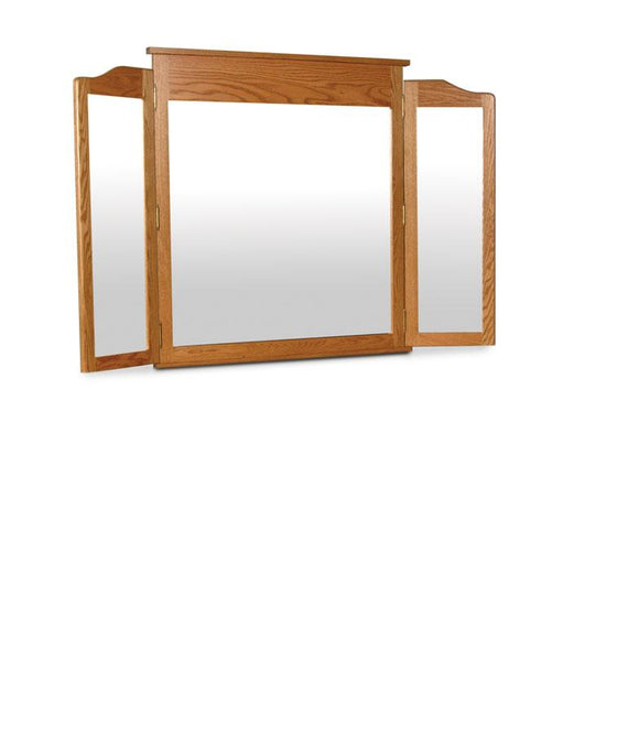 Simply Amish Bedroom Shaker Tri-View Mirror 50 inch w