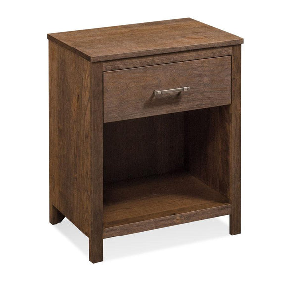 Simply Amish Bedroom Sheffield Nightstand with Opening on Bottom