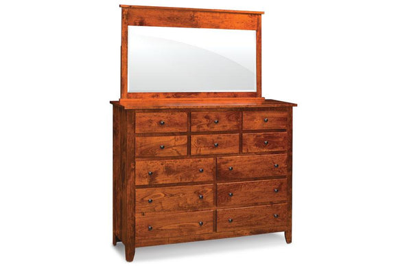 Simply Amish Bedroom Shenandoah Bureau Mirror 52 inch w