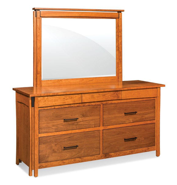 Simply Amish Bedroom Sheridan 7-Drawer Dresser Mirror