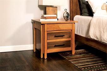 Simply Amish Bedroom Sheridan Nightstand with Drawers-extra wide