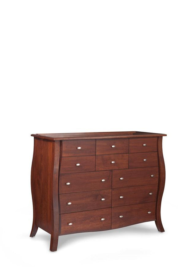 Simply Amish Bedroom Sophia 12-Drawer Bureau 60 1/2 inch w