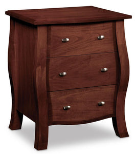 Simply Amish Bedroom Sophia Deluxe Nightstand with Drawers