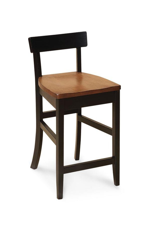 Simply Amish Dining Albany Stationary Barstool 24 inch h