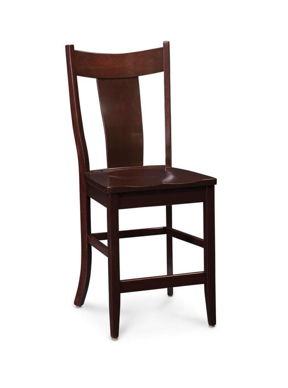 Simply Amish Dining Arnold Stationary Barstool 24 inch h