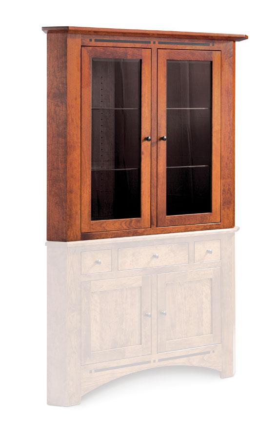 Simply Amish Dining Aspen Closed Corner Hutch Top 38 inch Beveled