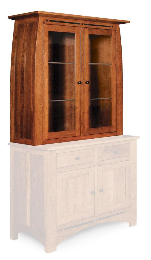 Simply Amish Dining Aspen Closed Hutch Top 45 1/2 inch w Beveled