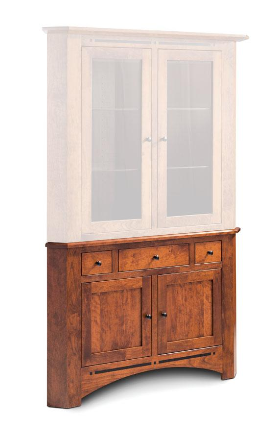 Simply Amish Dining Aspen Corner Hutch Base
