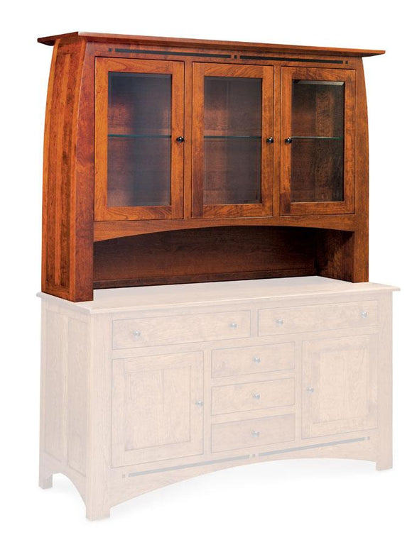 Simply Amish Dining Aspen Open Hutch Top 64 1/2 inch Beveled
