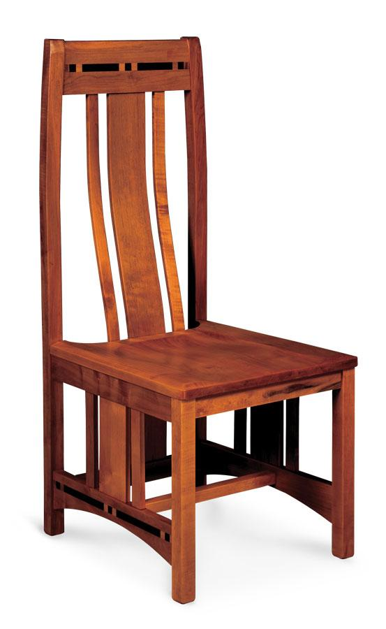 Simply Amish Dining Aspen Side Chair with Lower Back and Inlay