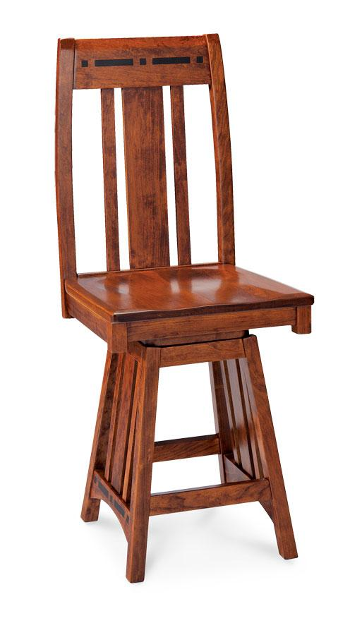 Simply Amish Dining Aspen Swivel Barstool with Inlay 24 inch h