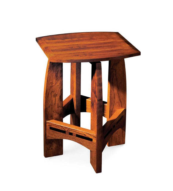 Simply Amish Dining Aspen Swivel Barstool with Inlay, No Back 18 inch