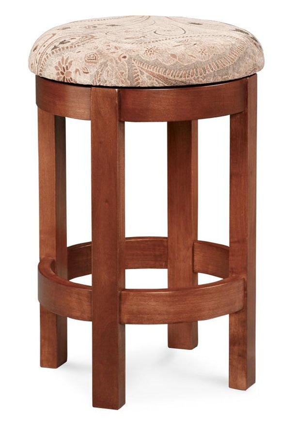 Simply Amish Dining Barrel Swivel Barstool 18 inch h
