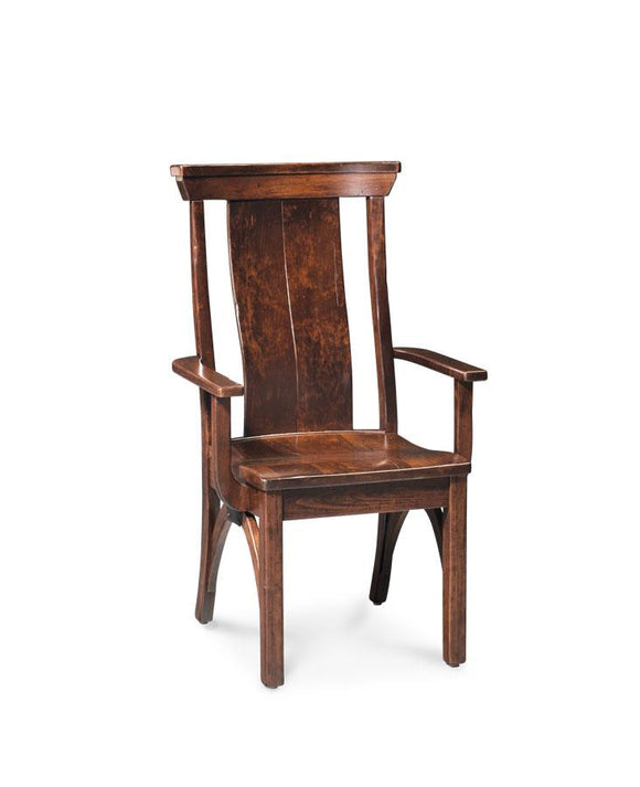 Simply Amish Dining B&O Railroad Trestle Bridge Arm Chair