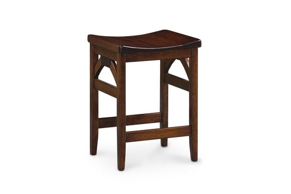 Simply Amish Dining B&O Railroad Trestle Bridge Backless Stationary Barstool 30 inch