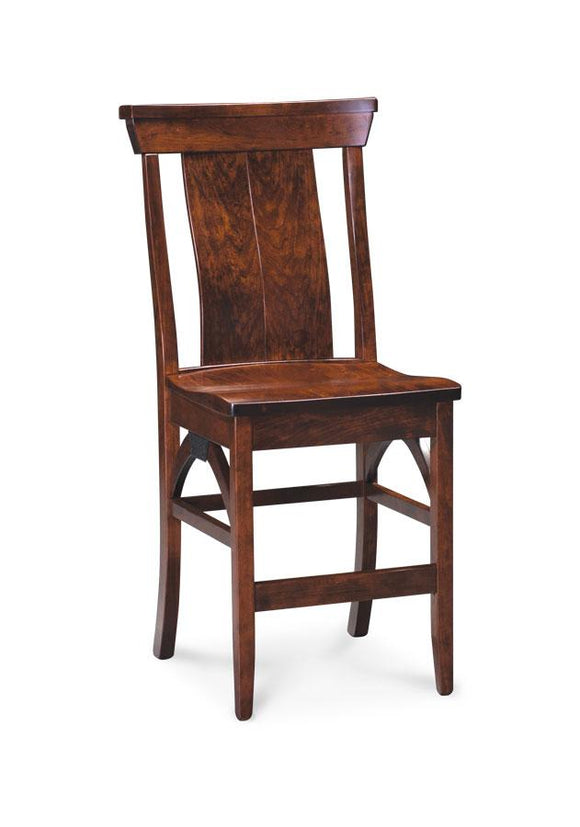 Simply Amish Dining B&O Railroad Trestle Bridge Stationary Barstool 30 inch h