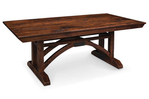 Simply Amish Dining B&O Railroad Trestle Bridge Trestle Table