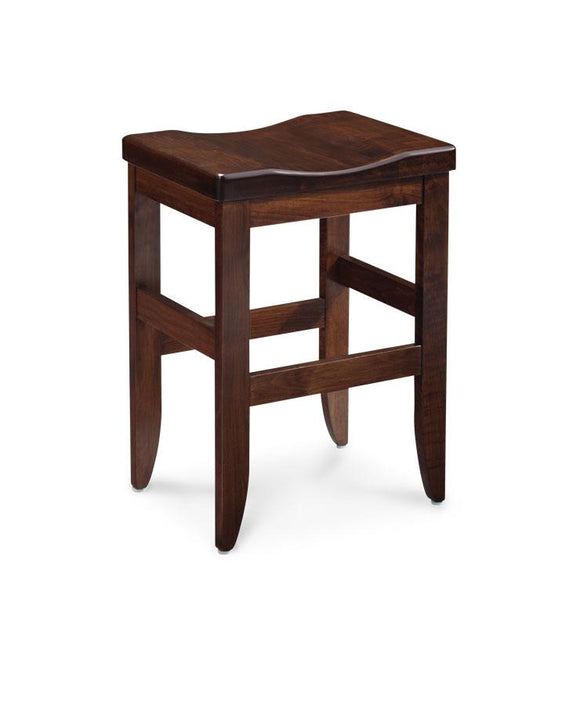 Simply Amish Dining Bowen Stationary Barstool 30 inch h