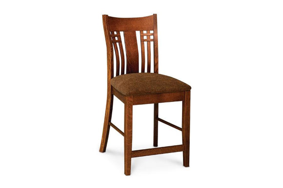 Simply Amish Dining Bradley Stationary Barstool 24 inch h