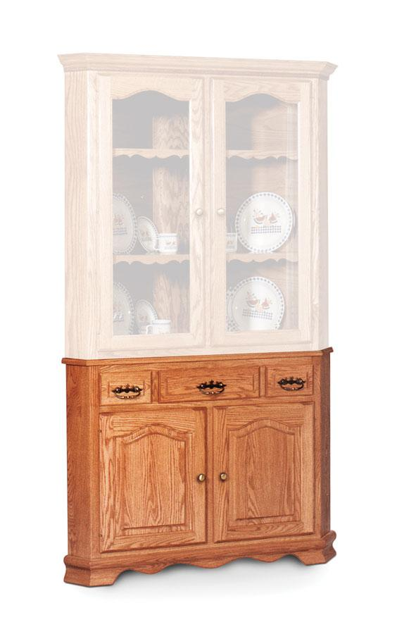 Simply Amish Dining Classic Closed Corner Hutch Base, Large