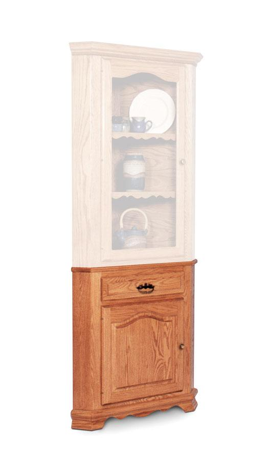 Simply Amish Dining Classic Closed Corner Hutch Base, Small
