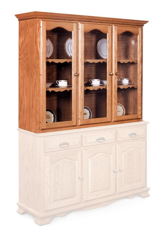 Simply Amish Dining Classic Closed Hutch Top 63 1/2 inch Beveled