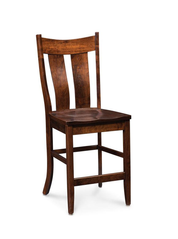 Simply Amish Dining Corbin Stationary Barstool 30 inch h